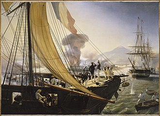 Punitive expedition - The French Navy raids San Juan de Ulua (Mexico) during the Pastry War (1838).