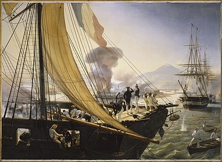 French bombardment of the fort of San Juan de Ulua in the Pastry War Episode de l'expedition du Mexique en 1838.jpg