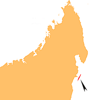 Île Sainte-Marie - Location of Île Sainte-Marie in north-eastern Madagascar