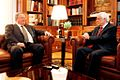 Ο Υπουργός Εξωτερικών, κ. Νίκος Κοτζιάς με τον Πρόεδρο της Δημοκρατίας, κ. Προκόπη Παυλόπουλο, 2.7.2015 (19169706278).jpg