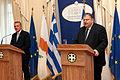 Συνάντηση Αντιπροέδρου της Κυβέρνησης και ΥΠΕΞ Ευ. Βενιζέλου με τον Υπουργό Άμυνας της Κυπριακής Δημοκρατίας Φ. Φωτίου (9349921355).jpg