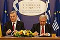 Συνάντηση ΥΠΕΞ Δ. Αβραμόπουλου με ΥΠΕΞ Βοσνίας και Ερζεγοβίνης Z. Lagumdzija (8678185431).jpg