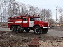 523d1696ab6f2e ZIL-131-based fire engine