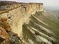 Ак Кая - Белая скала, Обрывы панорама.jpg
