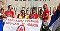 Божидар Катић, говор учесницима Церског марша.JPG