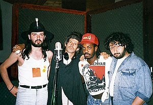 Steve Jordan (musician) - Jordan appearing with Richards' X-Pensive Winos. L to R: Sergey Voronov, Keith Richards, Steve Jordan, Stas Namin
