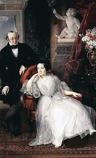 Портрет Николая Ивановича и Надежды Михайловны Бер. 1850
