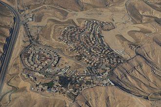 Mitzpe Yeriho - Aerial view of Mitzpe Yeriho, 2014