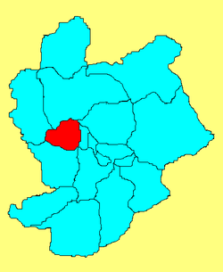 Location in Zhangjiakou City