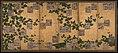 伝近衛信尋書・伝長谷川宗也絵 葛下絵色紙貼付『和漢朗詠集』屏風-Anthology of Japanese and Chinese Poems (Wakan rōeishū) with Underpainting of Arrowroot Vines MET DP264138.jpg