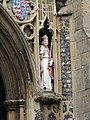 -2019-07-15 Saint Nicholas statue, Porch, Parish church of Saint Nicholas, North Walsham.JPG