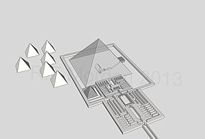 Mortuary complex of Pepi I - Pyramid of Pepi I taken from a 3d model