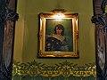 025 Casa Pérez Samanillo (Círculo Ecuestre), saló central del primer pis, quadre de R. Casas.jpg