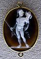045 arte romana, marte con trofeo, calcedonio, con retro con profilo di apollo del xvi sec..JPG