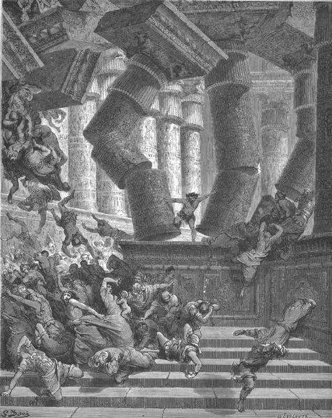 Dore', Samson Pulling Down the Temple
