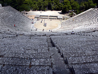 History of theatre - The best-preserved example of a classical Greek theatre, the Theatre of Epidaurus, has a circular orchêstra and probably gives the best idea of the original shape of the Athenian theatre, though it dates from the 4th century BC.