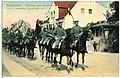 09805-Großenhain-1908-1. Königlich Sächsisches Husaren-Regiment König Albert Nr. 18 Rückkehr vom Exerzieren-Brück & Sohn Kunstverlag.jpg