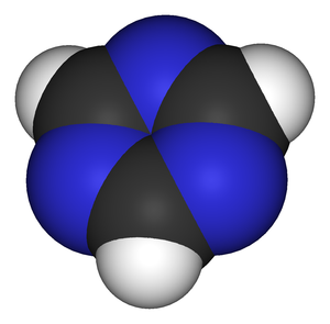 1,3,5-Triazine - Image: 1,3,5 triazine 3D vd W