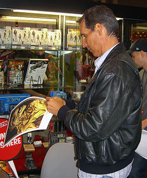 Haunt (comics) - Co-creator Todd McFarlane signing a Haunt poster at the 2011 New York Comic Con.