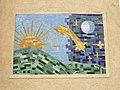 1210 Jedleseerstraße 79-95 Stg. 29 - Mosaik-Hauszeichen Himmelsgestirne von Oskar Thiede 1955 IMG 0637.jpg