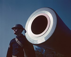 Joint Expeditionary Base Fort Story - 16-inch coast artillery howitzer, Fort Story, Virginia, USA 1942