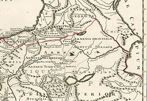 Russian Armenia - Eastern Armenia. 1740 year.