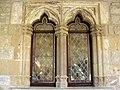 175 Abadia de Santa Maria, finestra geminada a la galeria superior.jpg