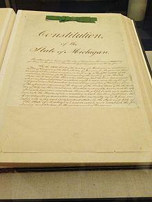 Constitution Of Michigan Wikipedia