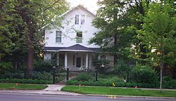 Orange Lyman Home, constructed in 1839; said to have been a stop on the Underground Railroad
