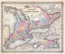 List Of Cities And Towns Of Upper Canada Wikipedia