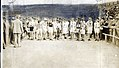 1904 Olympics- Runners lined up at start of Marathon Race, receiving instructions immediately prior to start.jpg