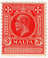 1925 3d carmine revenue stamp of Malta.jpg