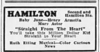 Straight from the Heart (1935 film) - Newspaper advertisement