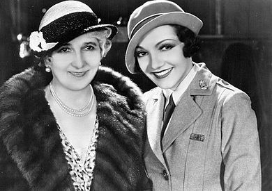 Colbert and her mother, Jeanne, in 1936 1936 Claudette Colbert & Mother.jpg