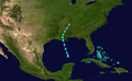 1949 Atlantic tropical storm 5 track.png