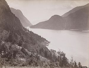 Bandak - Bandak lake about 1890 (photo: Axel Lindahl)