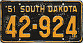 1951 South Dakota license plate.jpg