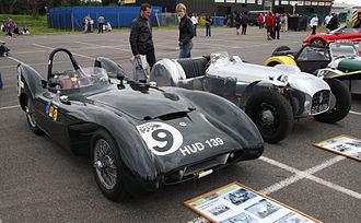 Lotus Mark IX - 1954 Lotus Mark IX, Coventry Climax 1098 cc beside a Lotus Mark VI