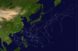 1975 Pacific typhoon season - Image: 1975 Pacific typhoon season summary