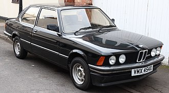 BMW 3 Series (E21) - 320 model with twin headlights