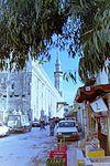 1993 Damascus. Shops behind Umayyad Mosque. Spielvogel.jpg