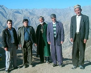 Yaghnobi people - A group of Yaghnobi-speaking men from Tajikistan