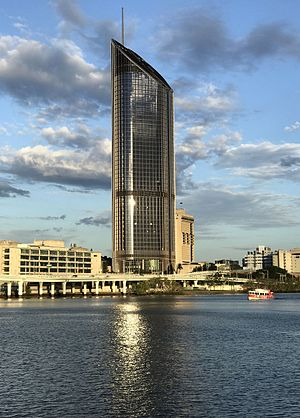 1 William Street, Brisbane - Building at sunset