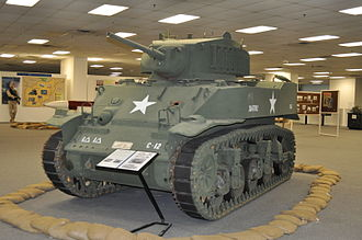 "1st Armored Division (United States) - The M5 Stuart tank was used by ""Iron Soldiers"" during World War II."