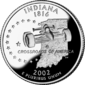 Indiana quarter dollar coin