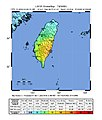 2003 Taitung earthquake intensity map.jpg