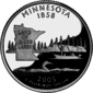 Minnesota quarter dollar coin