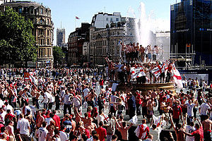 2006 FIFA World Cup Group B - English supporters celebrate their victory over Paraguay