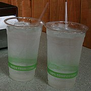 2008-07-14 Biodegradable cups at Chubby's Tacos.jpg