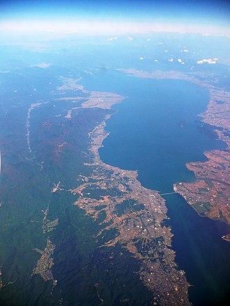 Lake Biwa - Lake Biwa aerial view